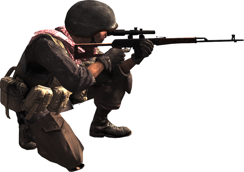 Cod 4 character png. Image opfor sniper call
