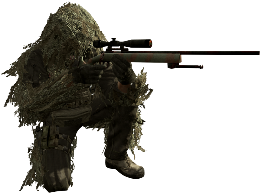 Transparent soldier sniper. Call of duty cut