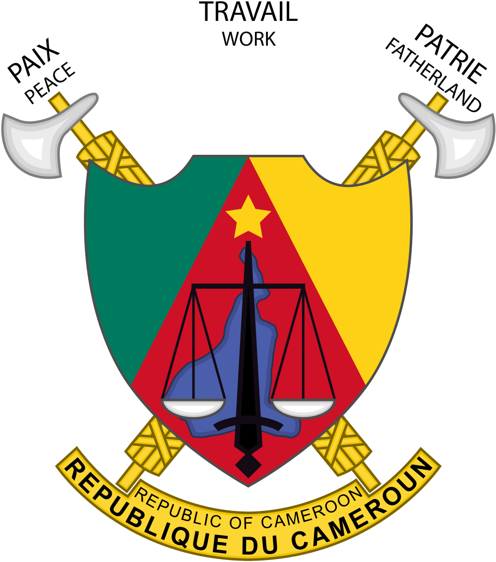 Code of arms png. File coat cameroon svg
