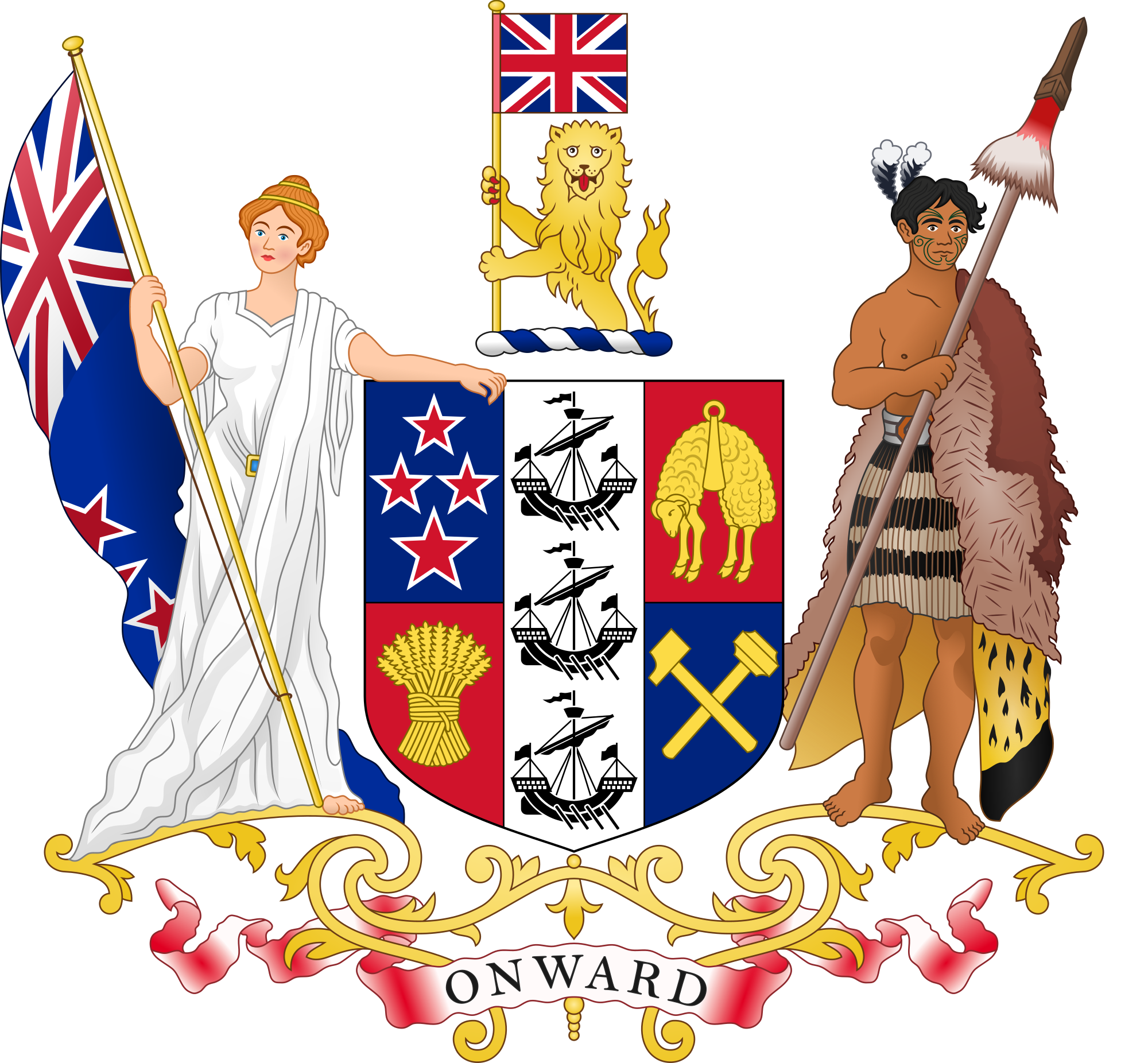 Code of arms png. Coat new zealand wikipedia