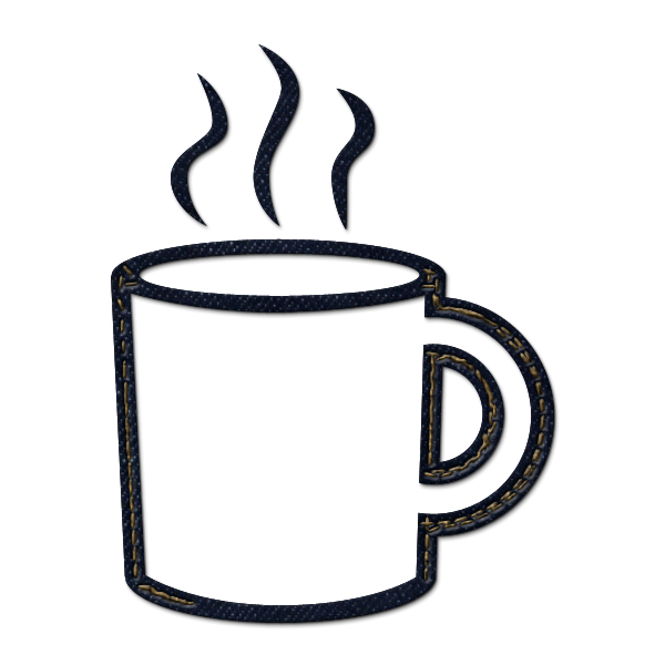 Coffee clip black and white. Mug clipart library