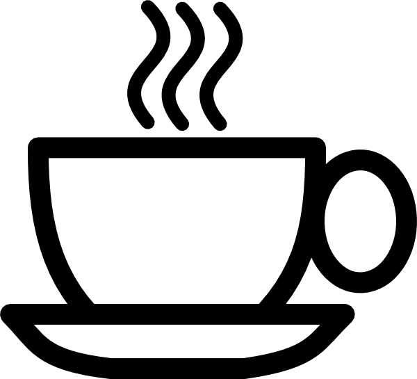 B w cup clip. Horizontal clipart coffee banner transparent library