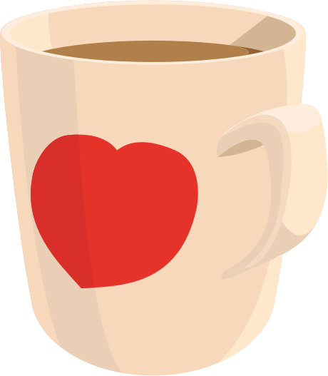 Coffee clip heart. Cup clipart library