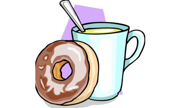 Coffee clip hot chocolate. Donuts and with mrs