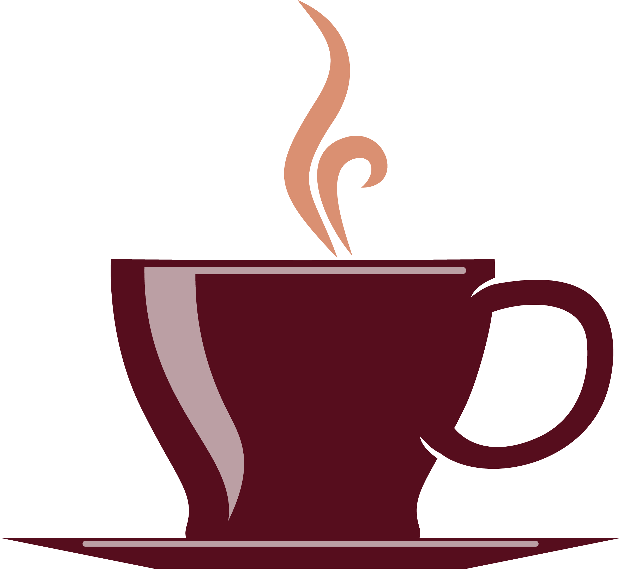 Cup tea cafe brown. Coffee clip hot chocolate png library download