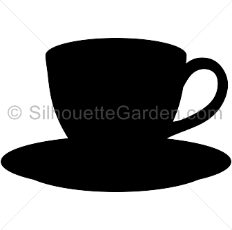 Coffee clip silhouette. Cup