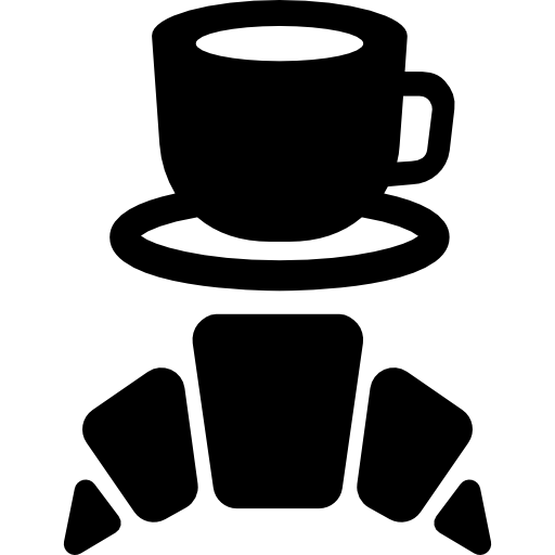 Coffee clip snack. Icon page png svg