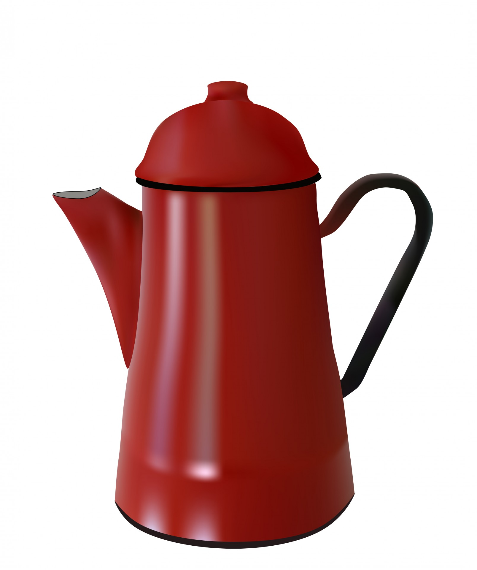 Coffee clipart kettle. Red pot free stock