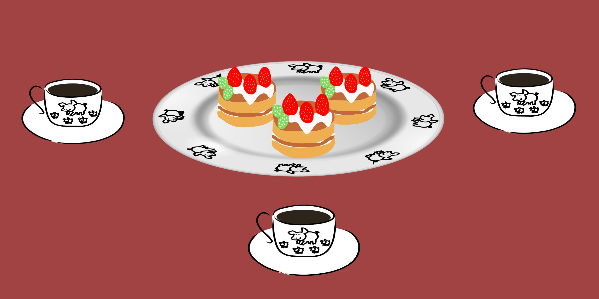 Pancakes vector svg. Clipart coffee and pancake