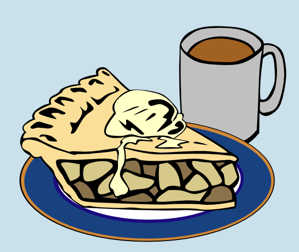 Coffee clipart pie. Apple and clip art