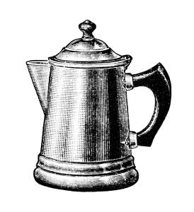 Coffee clipart vintage. Pot old fashioned maker