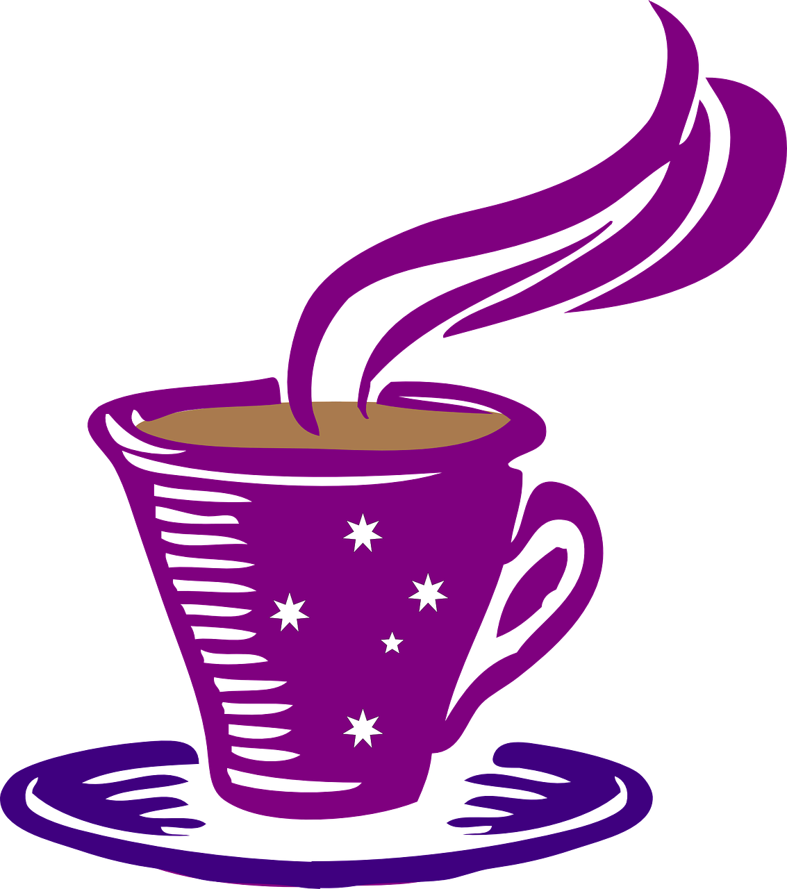 Coffee clipart. Fragrant evening in