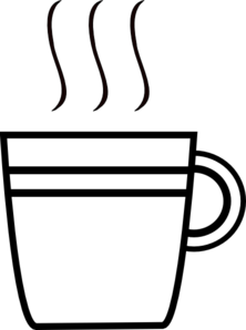 Coffee cup clipart black and white. Yet another clip art