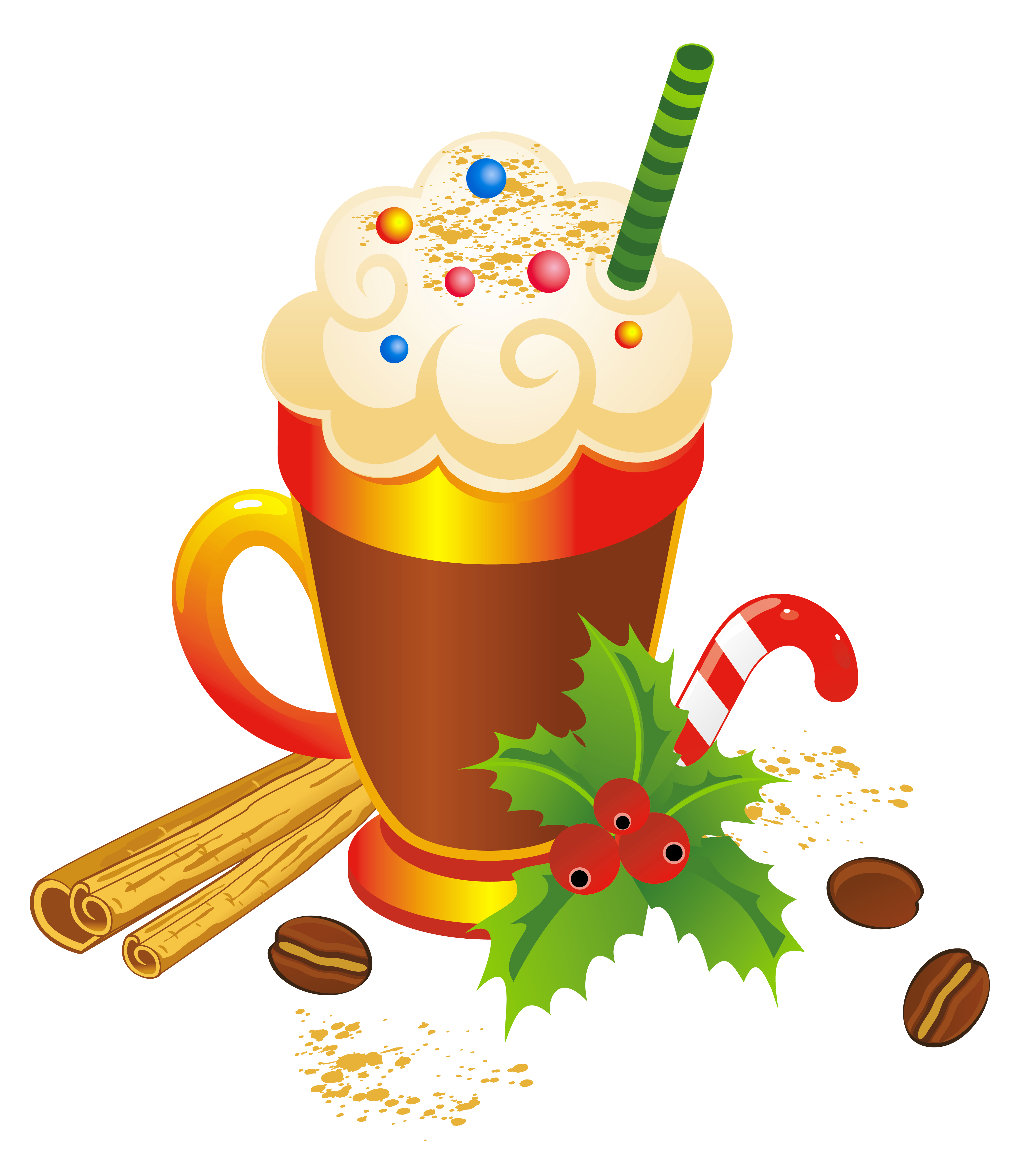 Coffee cup clipart christmas. Eggnog transparent png gallery