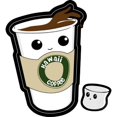Coffee cup clipart kawaii. Cute collection patch grande