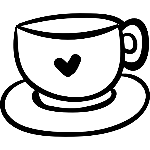 Coffee cup drawing png. With heart free signs
