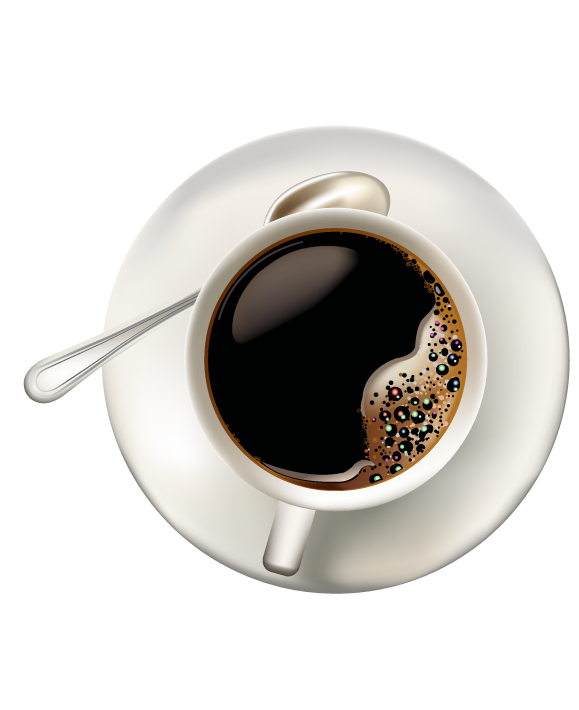 Coffee top view png