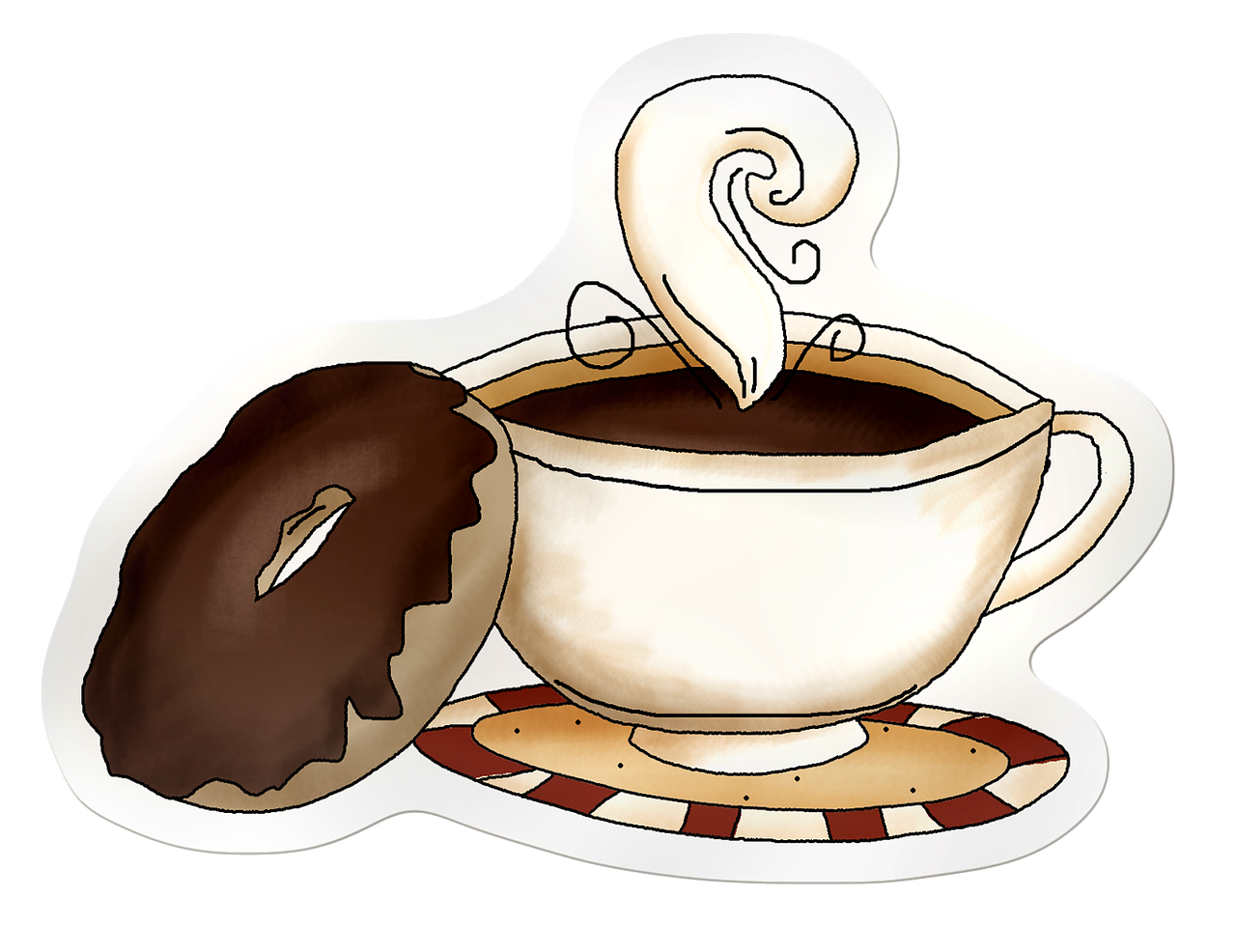 Coffee cup illustration png. Head of coffe