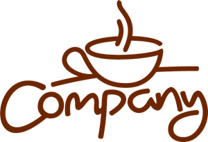 Vector cafe modern. Company coffee cup logo