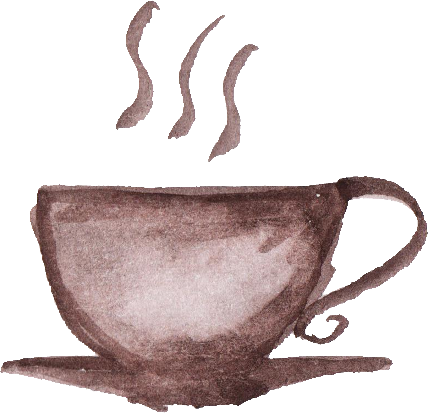 Coffee cup png. Watercolor transparent onlygfx