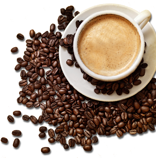 coffee cup png beans
