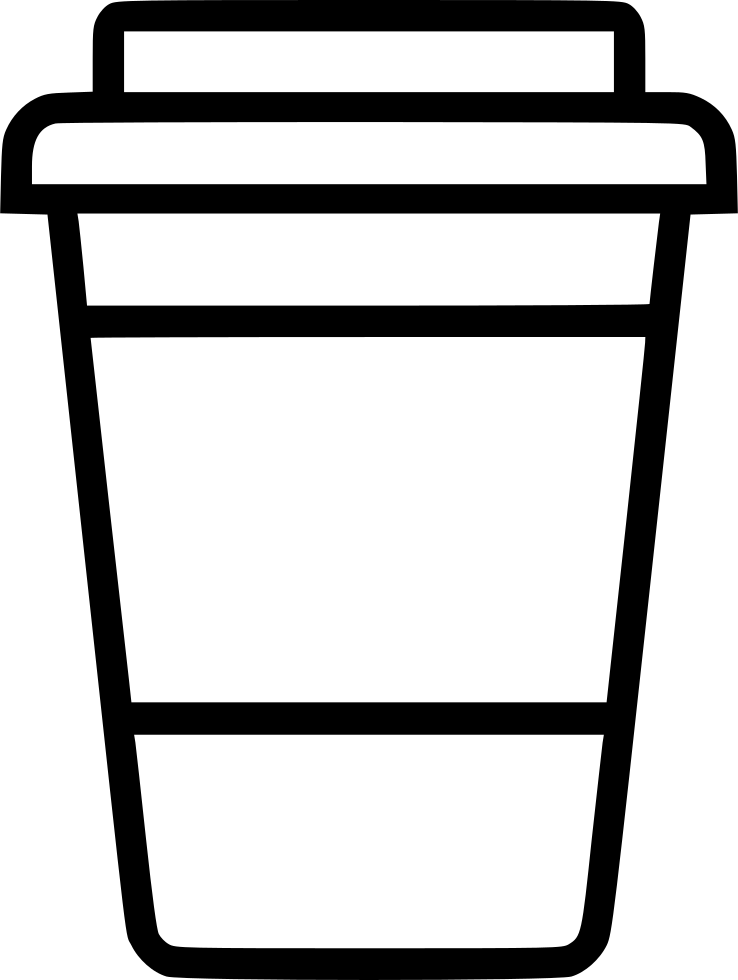 Coffee cup png outline. To go svg icon