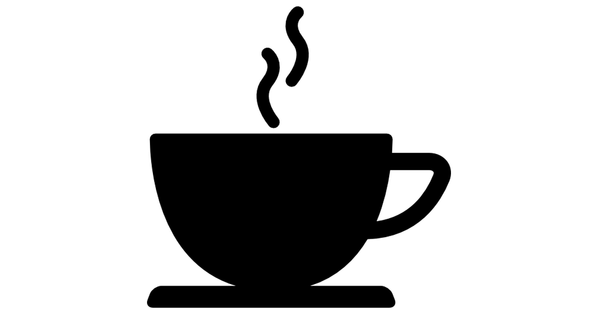 Coffee cup png silhouette. Of hot drink black