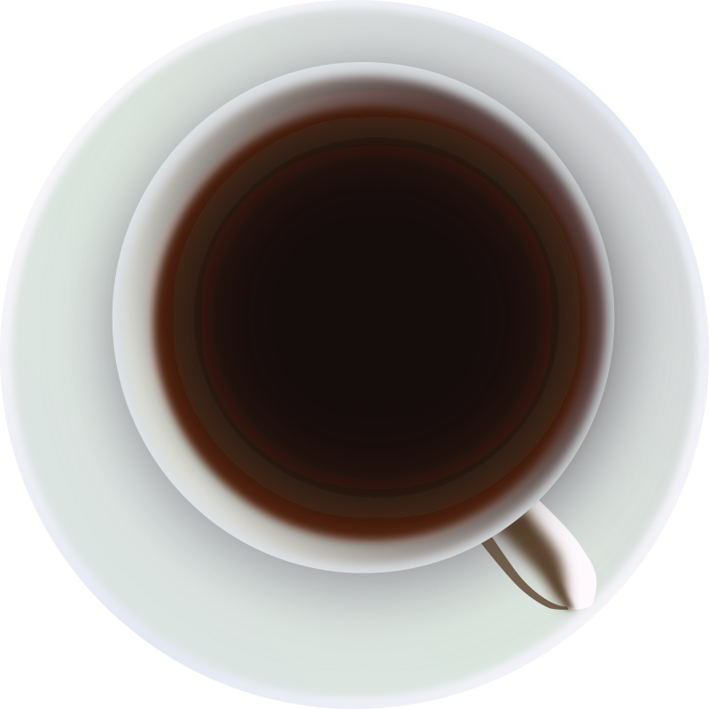 Coffee cup png top down. Clipart medium image