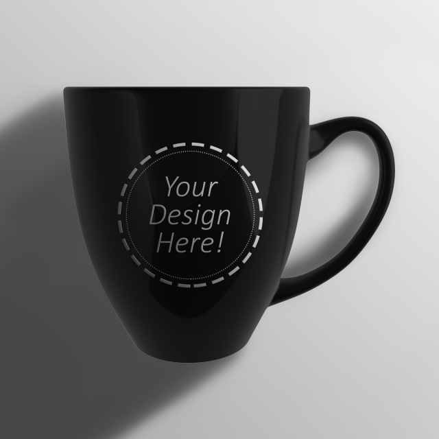 Coffee cup png top down. Laid single bistro mug