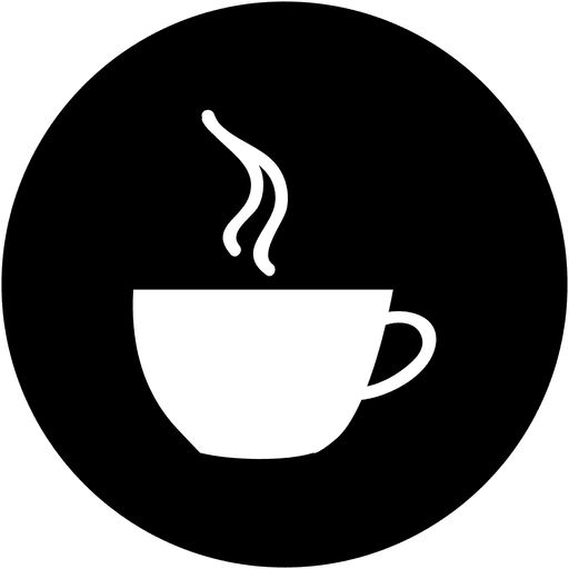 Coffee cup png vector. Round service icon transparent