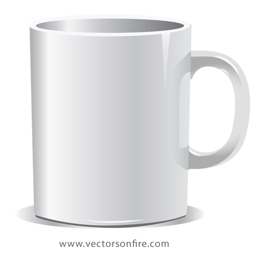 Coffee cup png vector. Free white mug psd