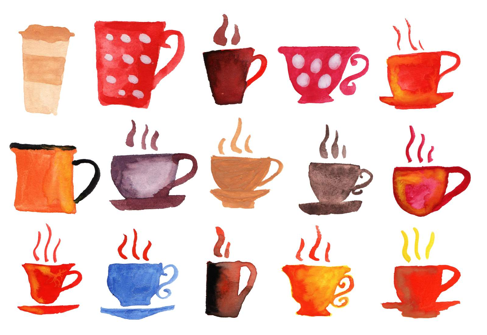Coffee cup png watercolor. Cups transparent onlygfx