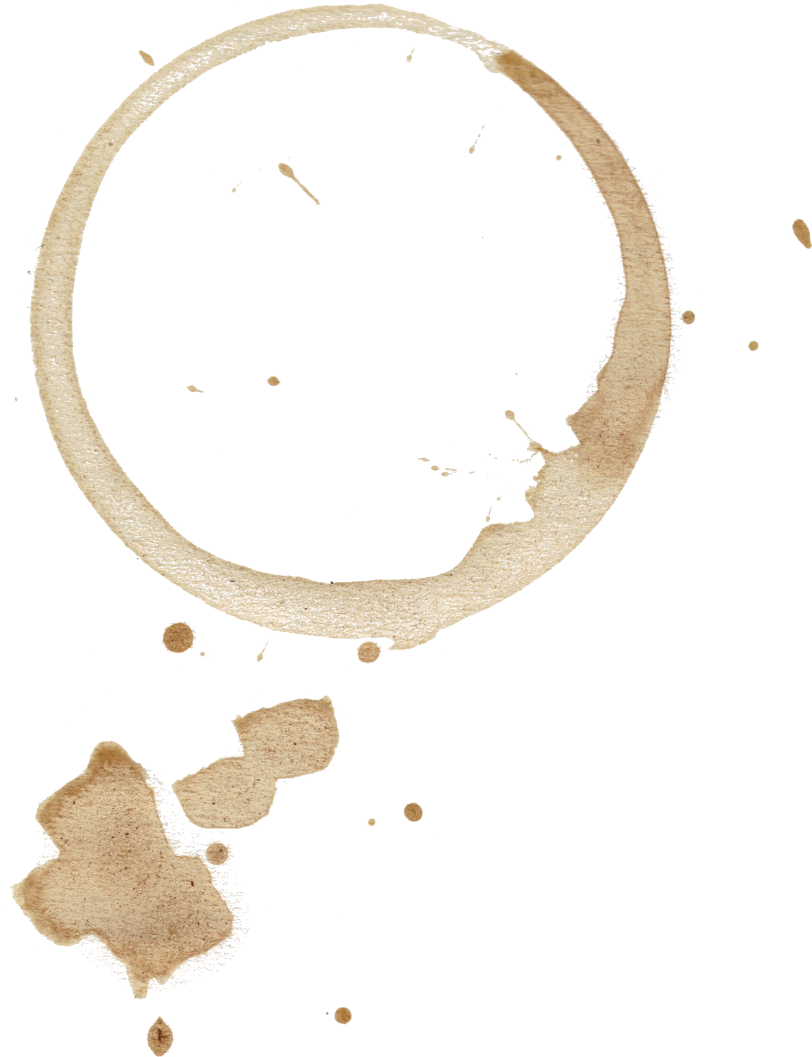 Coffee cup stain png. Stains set onlygfx