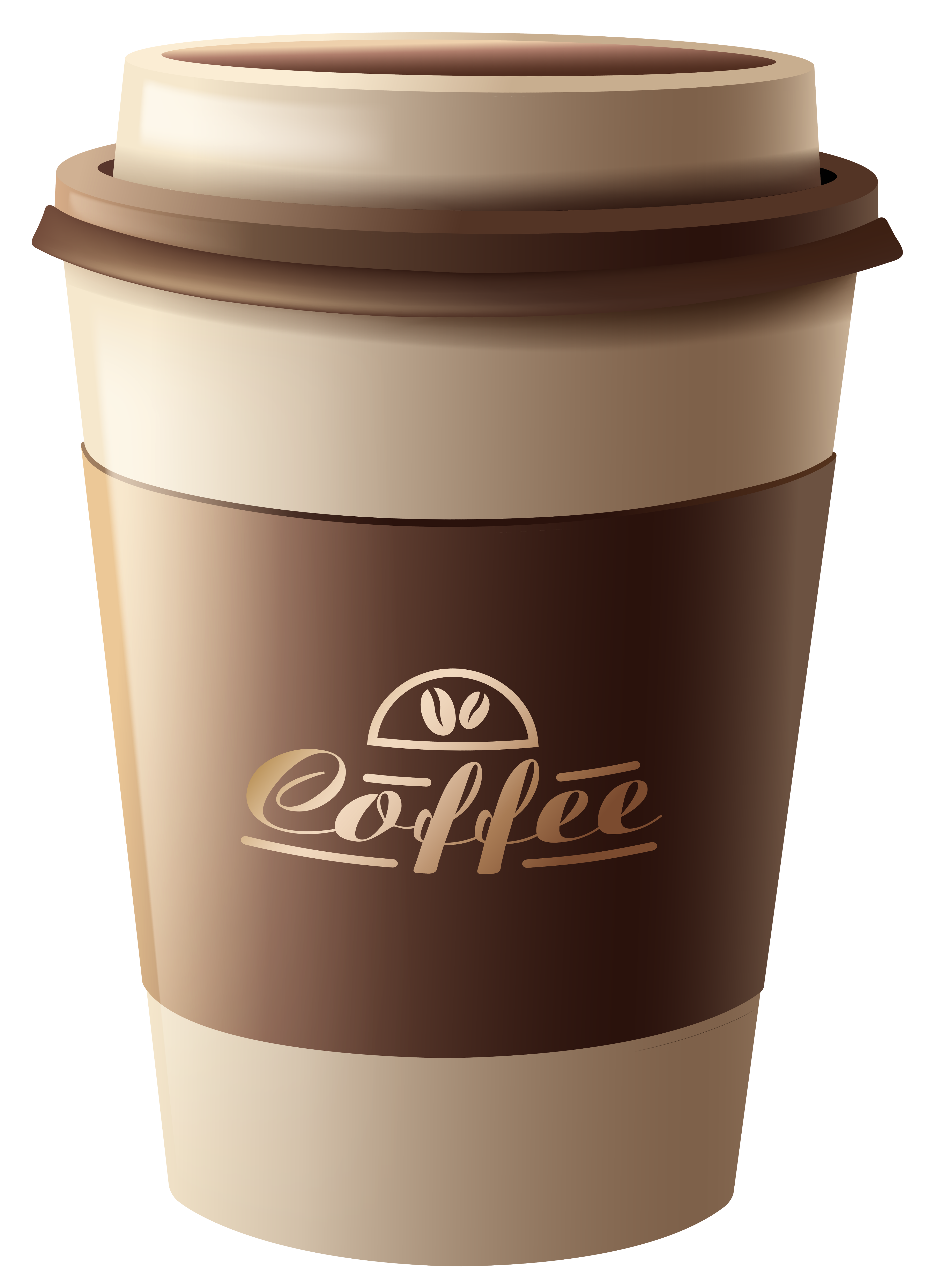 Coffee cup png plastic. Brown clipart image gallery
