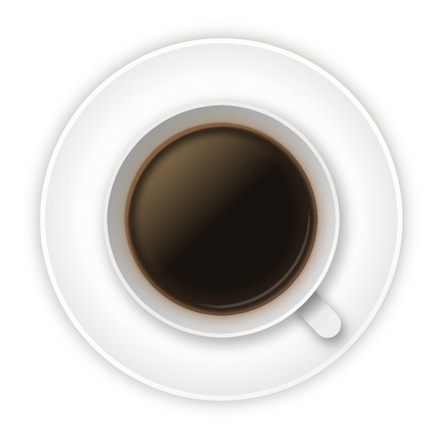 Coffee cup top view png. Stock image by baileybootthanoo