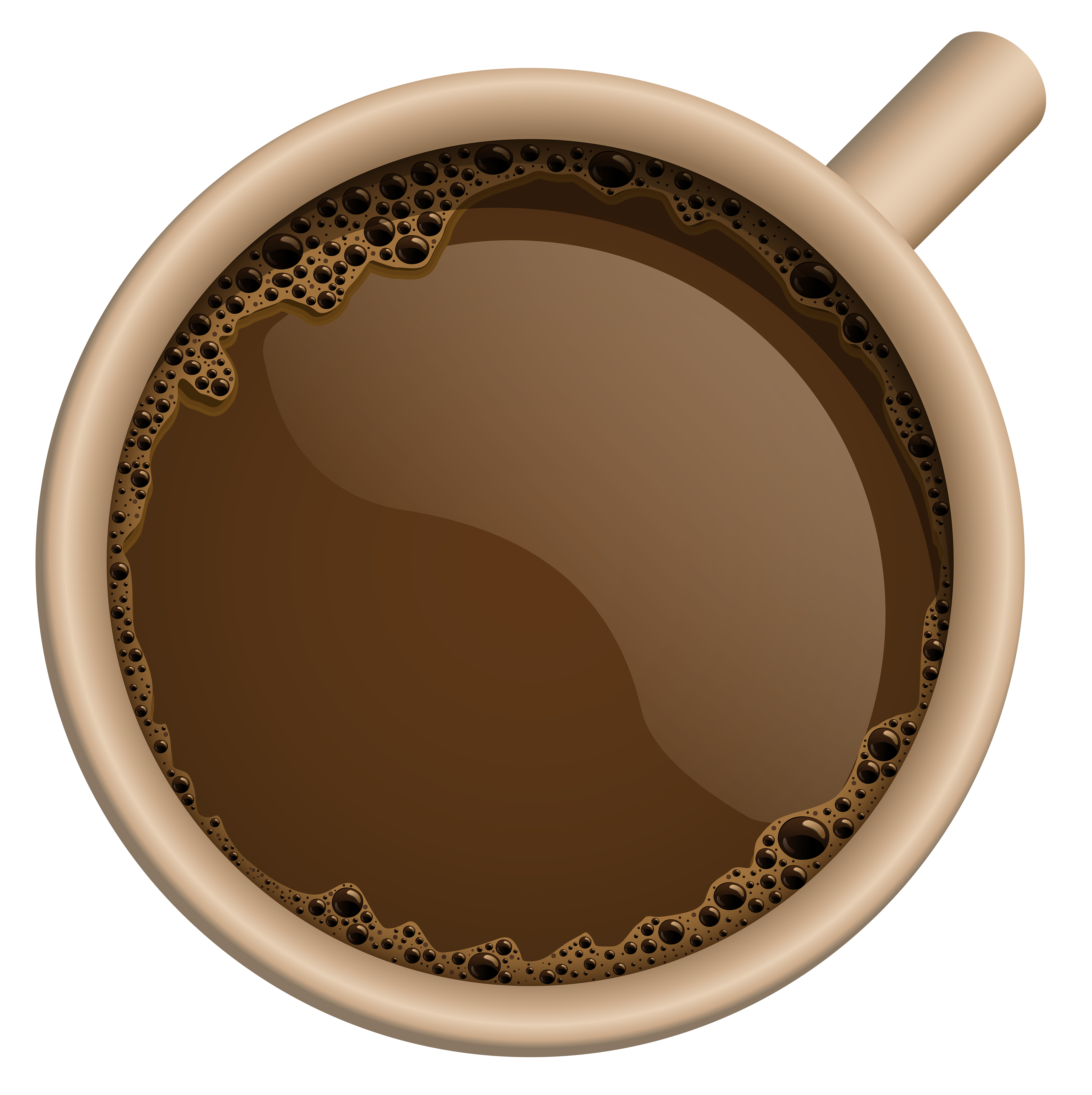 Coffee cup top view png. Brown clipart image gallery