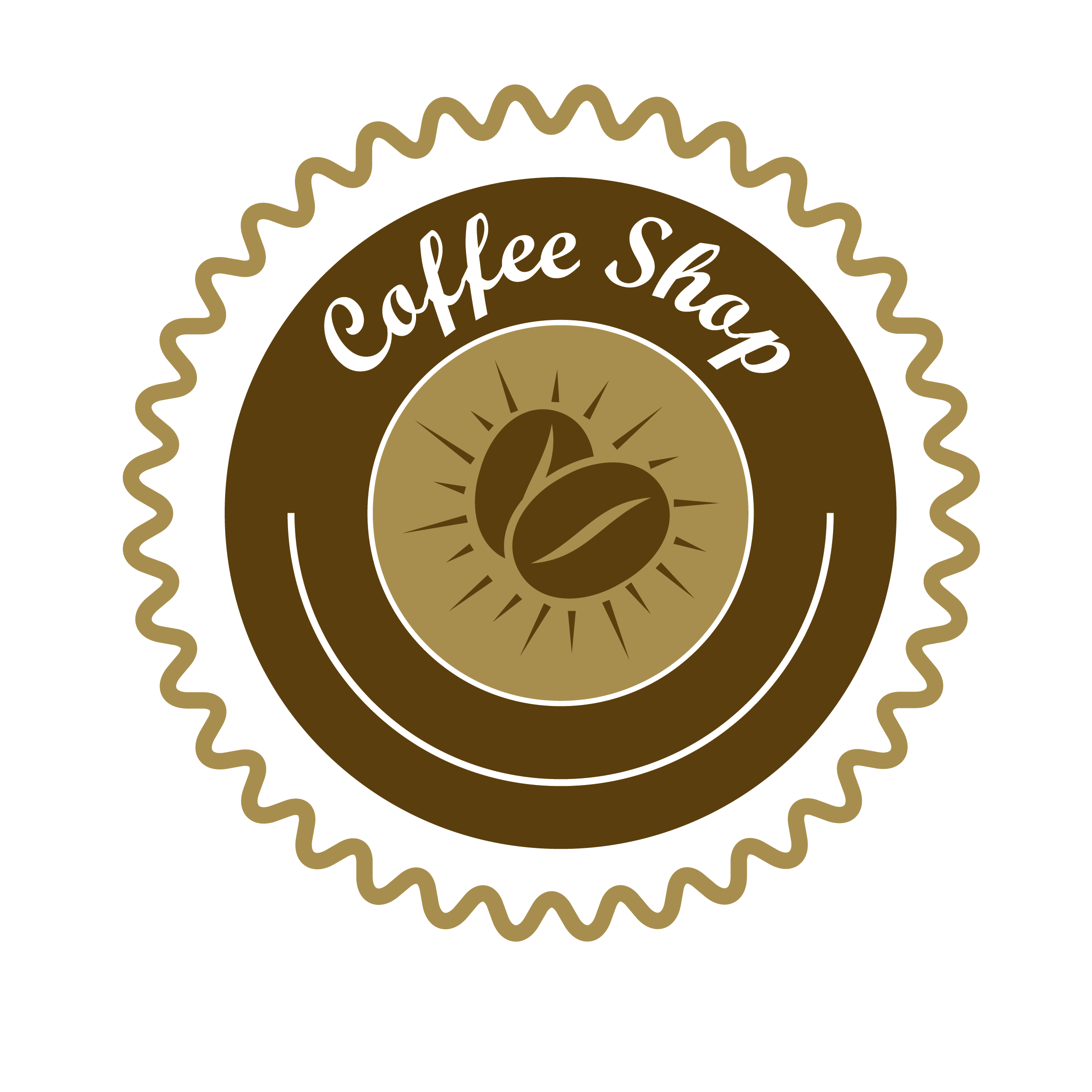 Coffee label png. Vector transprent free download