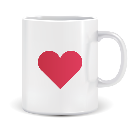 Coffee mug vector png. With heart icon transparent