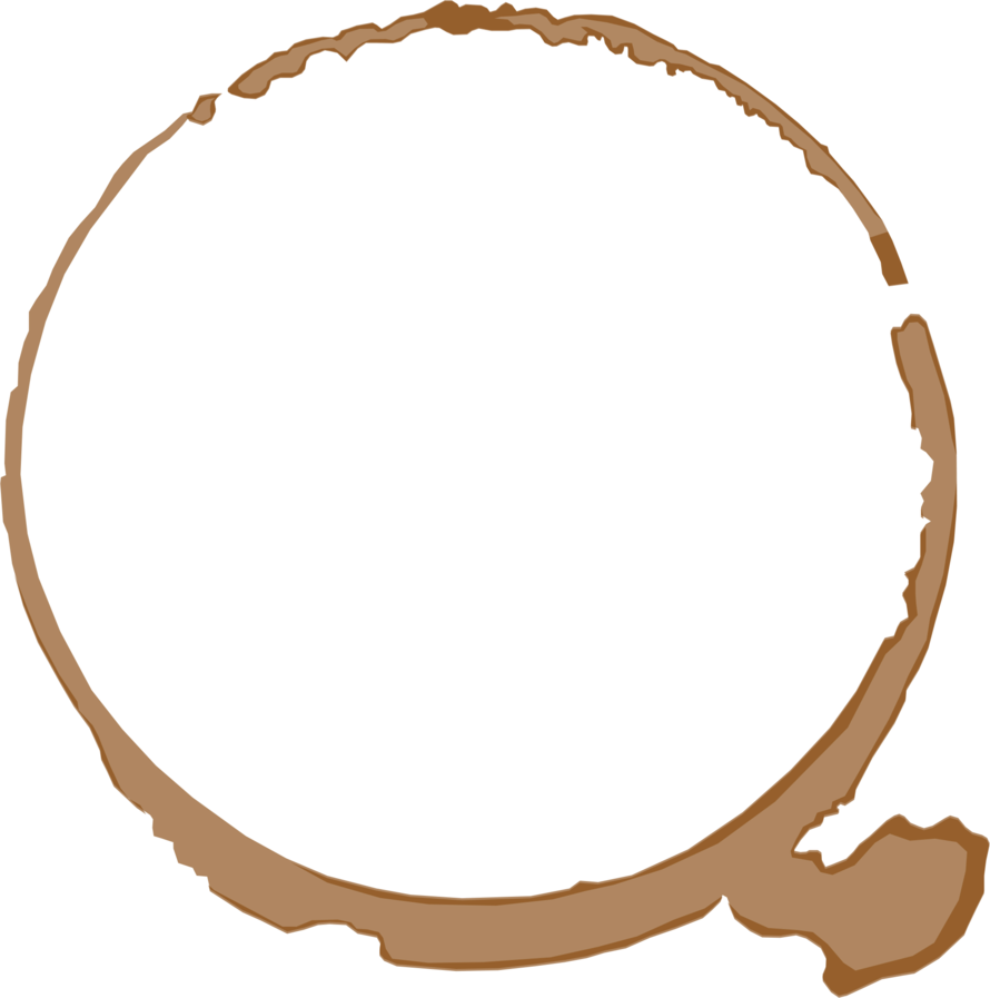 Coffee ring png. By artsy antics on