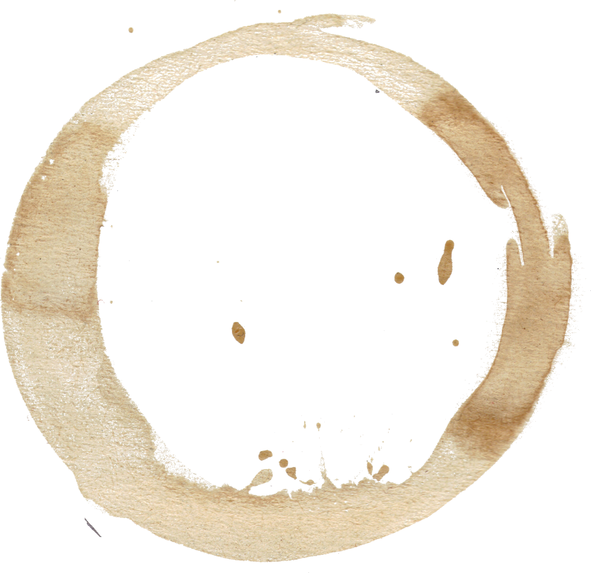 Wine stain ring png. Coffee stains set