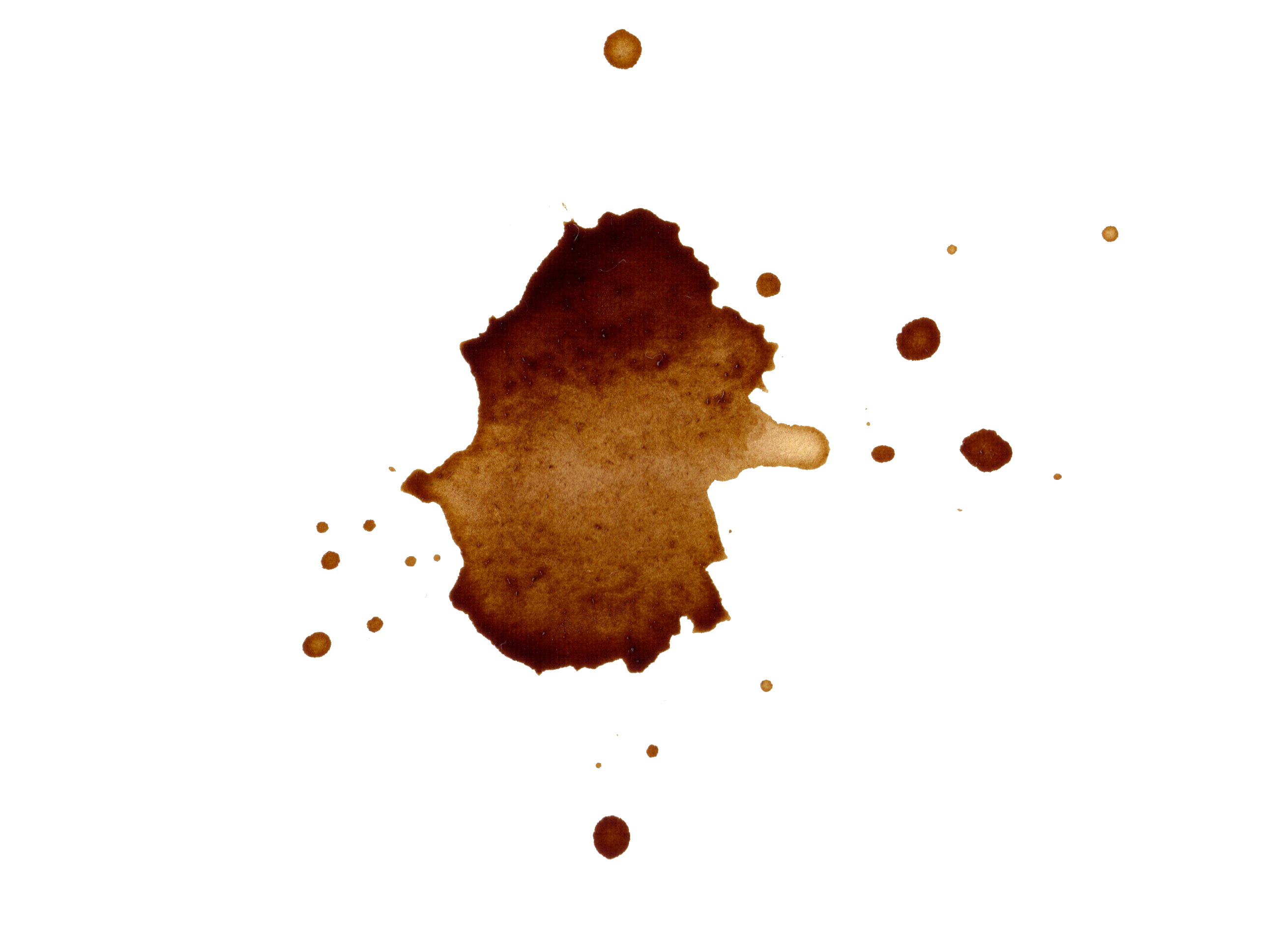 Coffee spill png. Stains splatter transparent