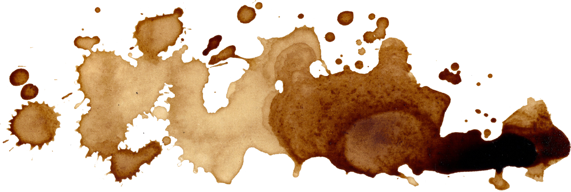 Coffee spill png. What gets stains out