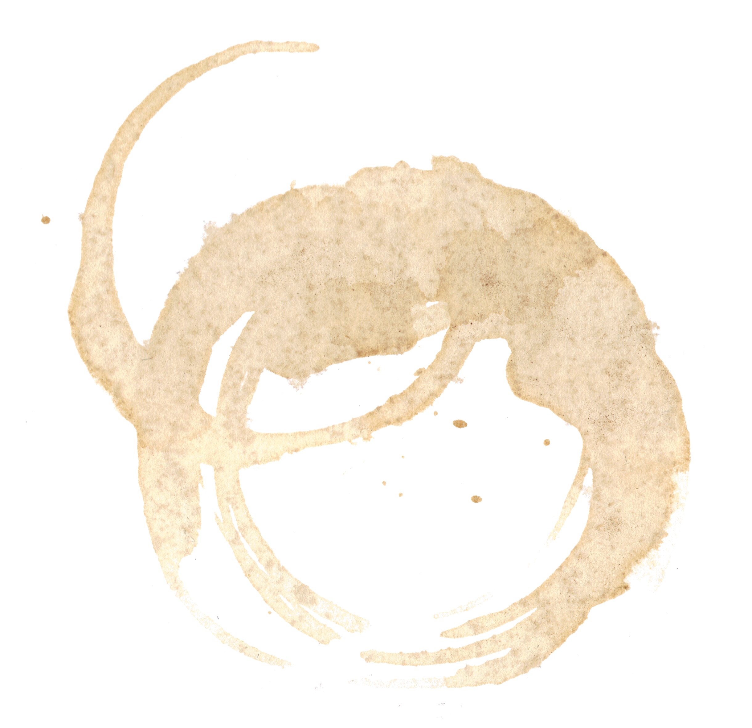 coffee stain image. Coffe ring png clipart transparent
