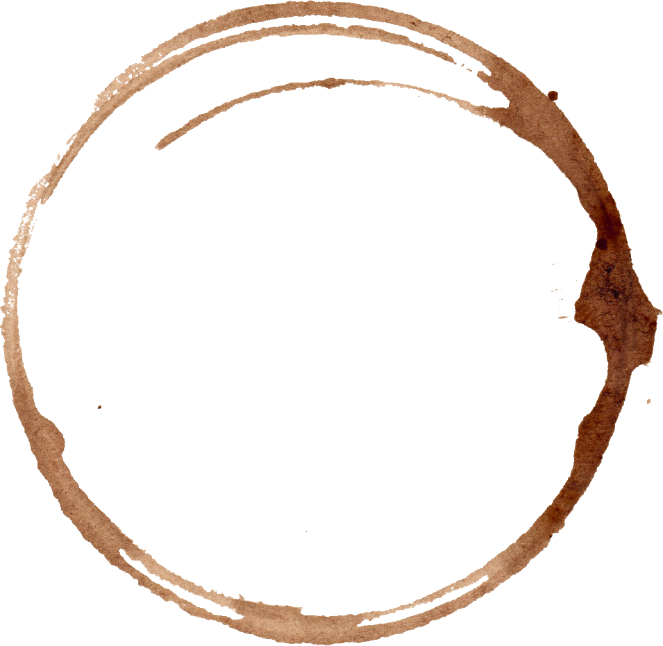 coffee stain rings. Coffe ring png banner royalty free