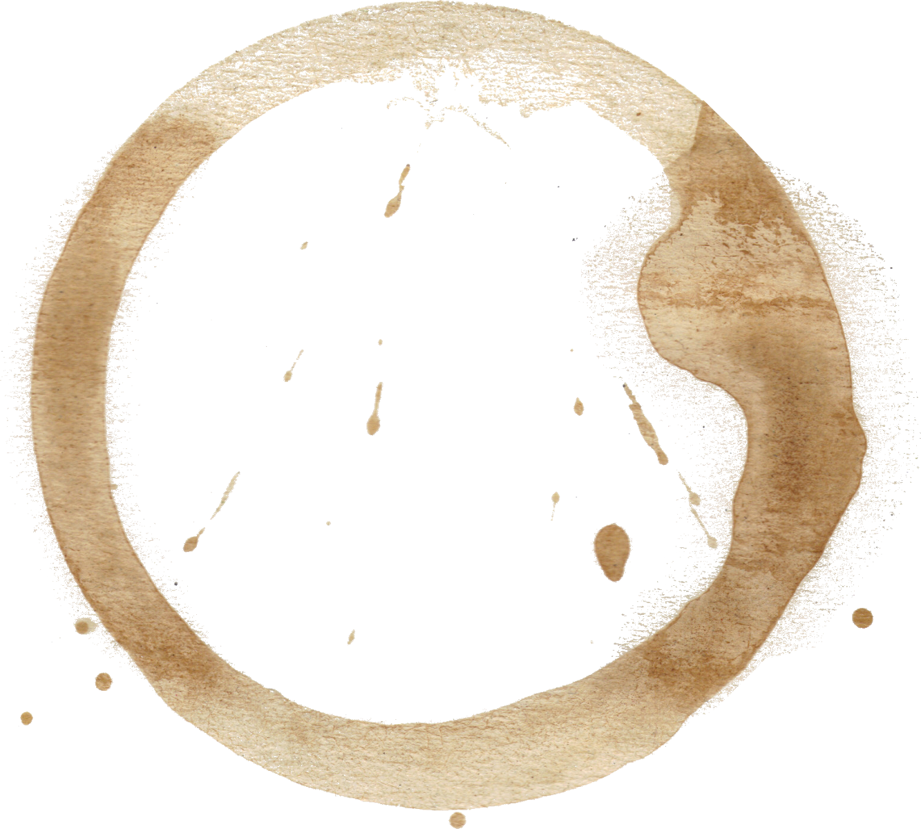 Coffee stain transparent png. Stains set onlygfx