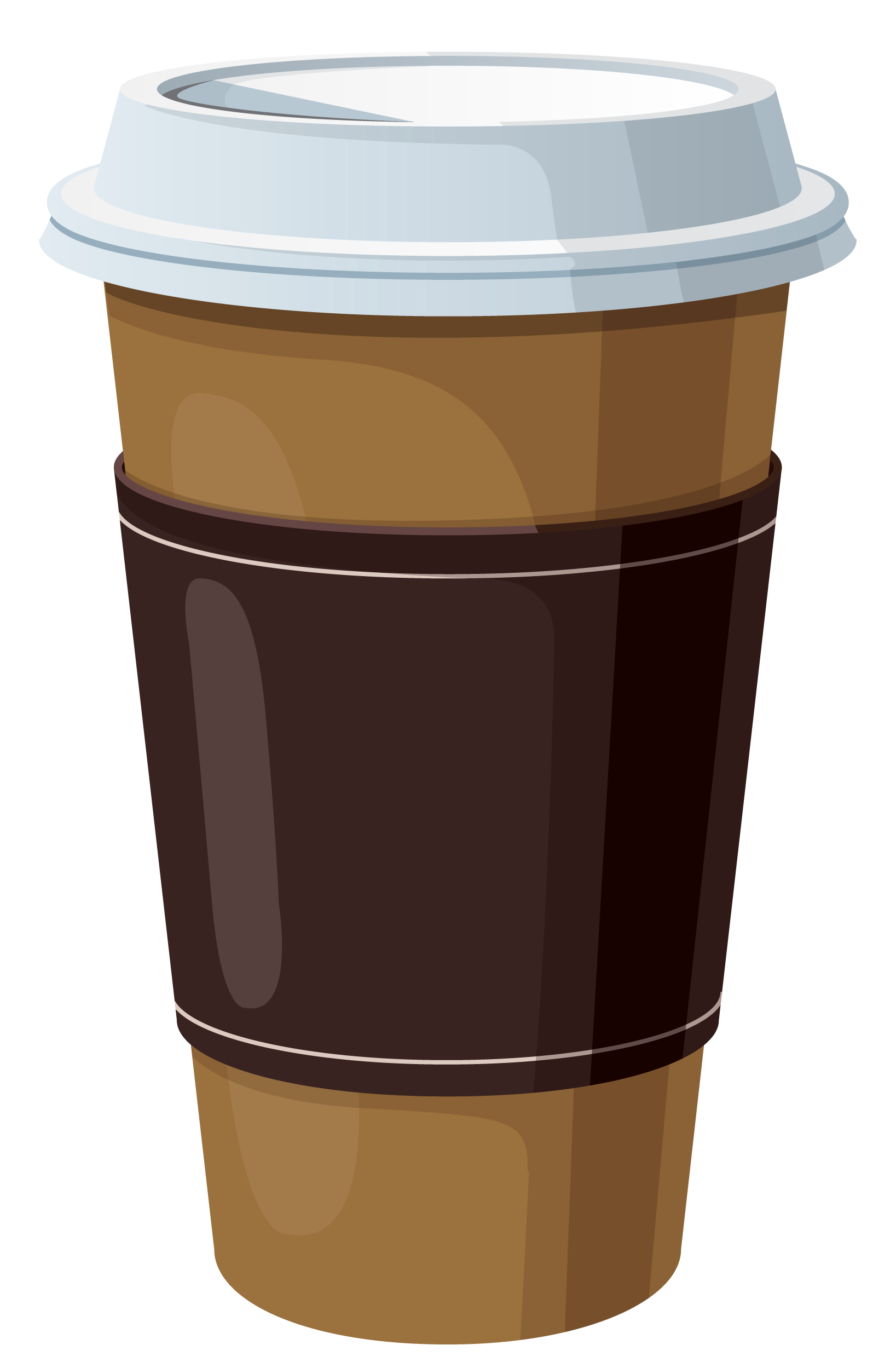 Coffee to go png. In plastic cup clipart
