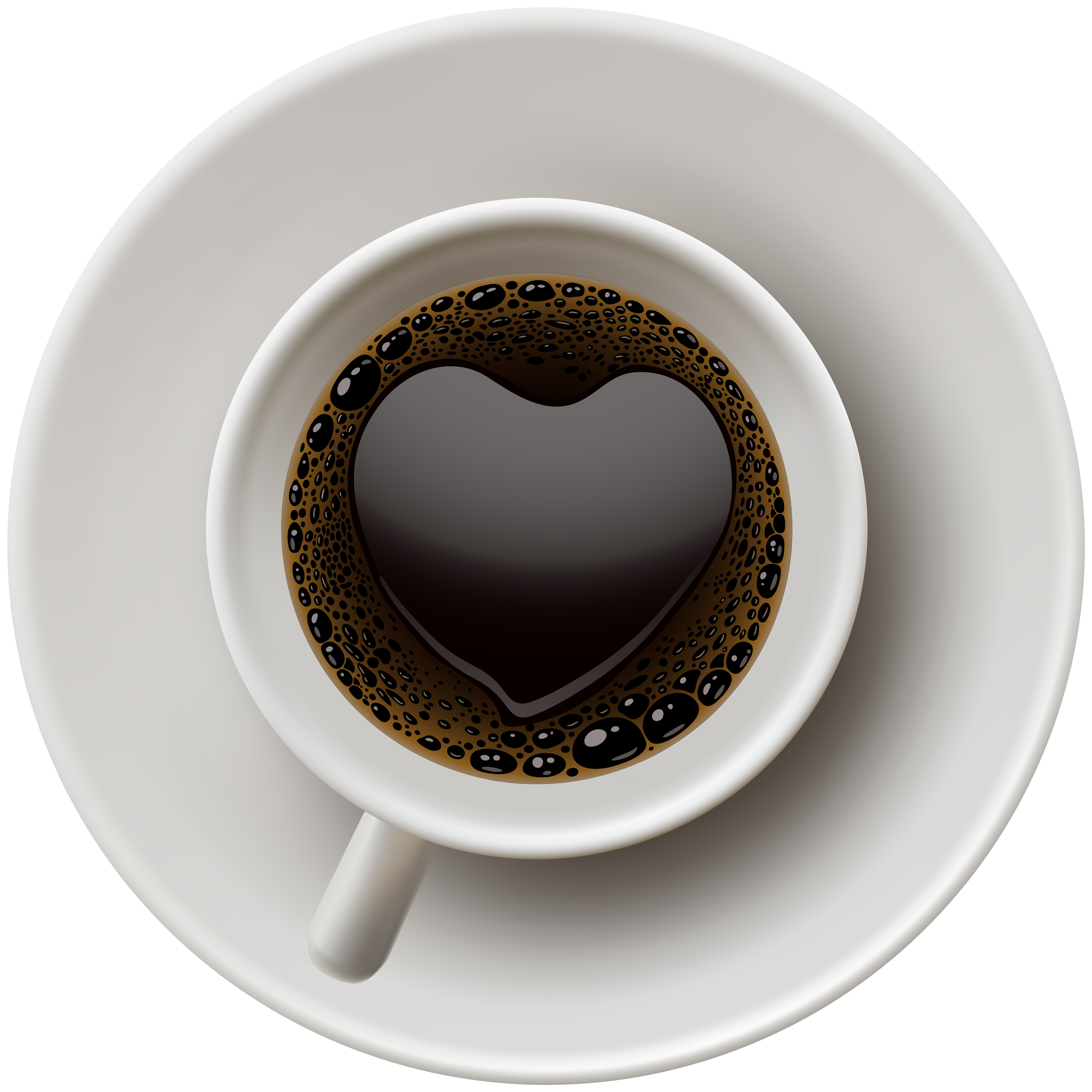 Coffee top view png. With heart clip art