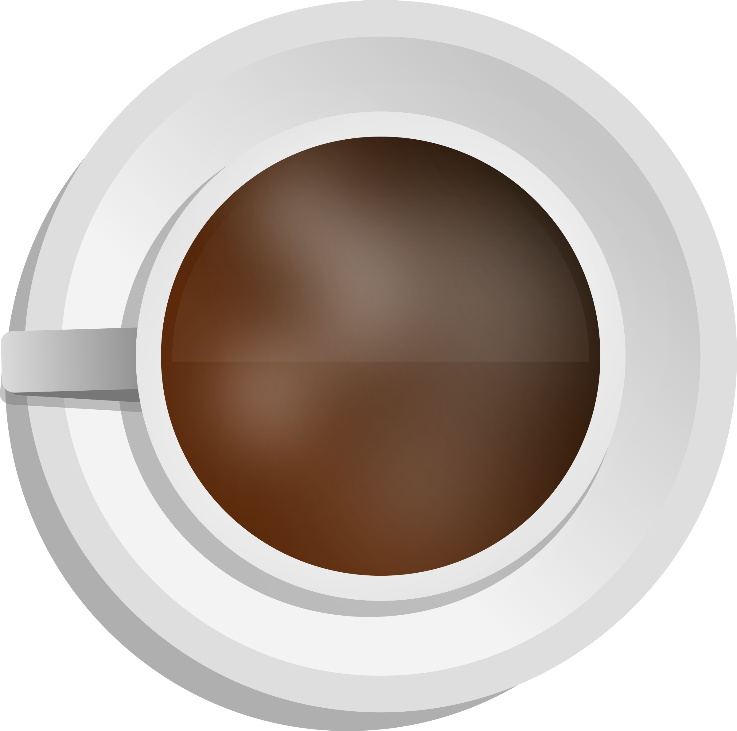 Coffee top view png. Realistic cup icons free