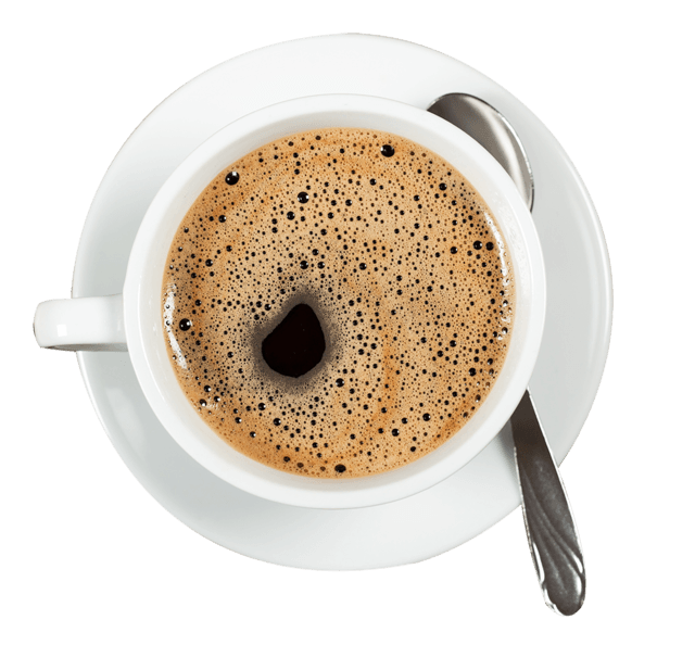 Coffee top view png. Our menu wattage company