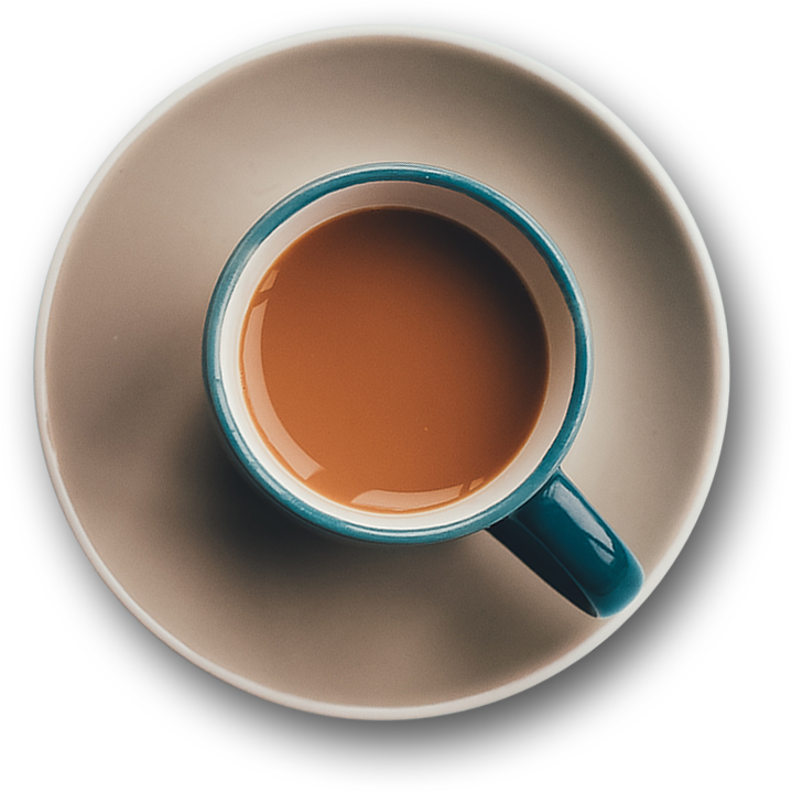 Coffee top view png. Abeantogo of the month